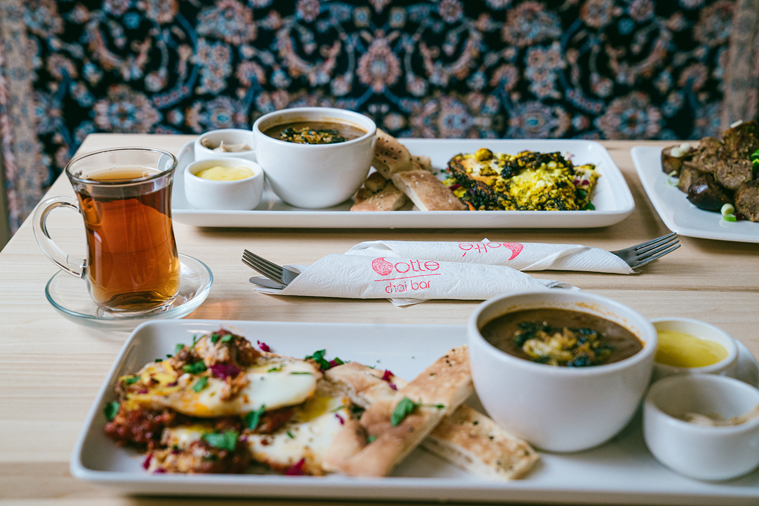 A number of weekend brunches are plated at Botte Chai Bar in Saskatoon Saskatchewan.